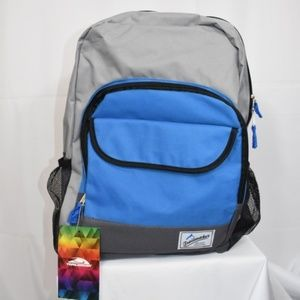 Trailmaker Black, Blue, and Gray Backpack Bag NWT
